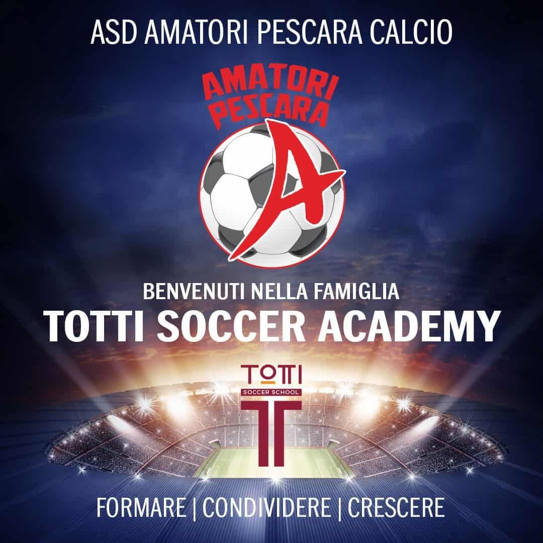 La ASD AMATORI PESCARA CALCIO diventa Totti Soccer Accademy
